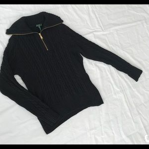 Ralph Lauren Ladies cable knit pullover sweater XL